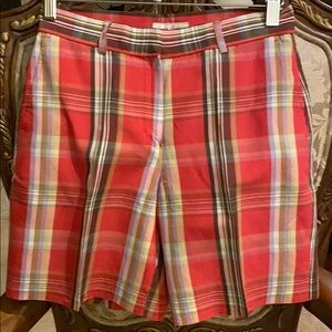 Plaid golf shorts size 2